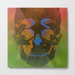 4i skull stencil art - black Metal Print