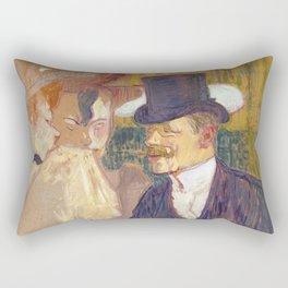 The Englishman, Henri de Toulouse Lautrec, 1892 Rectangular Pillow