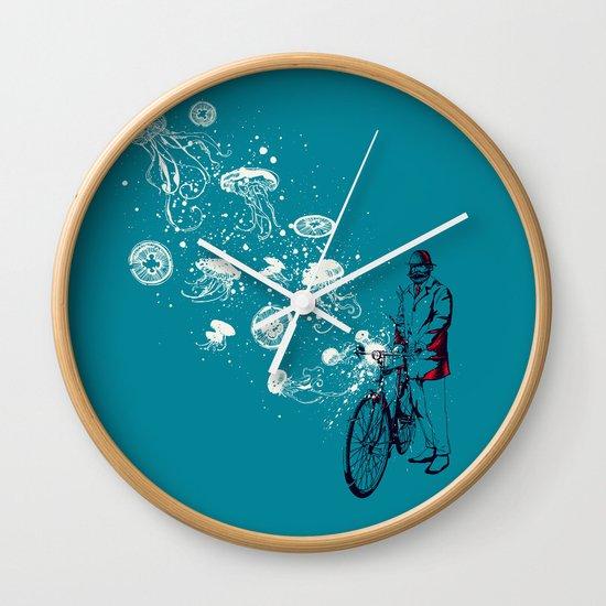 Journey in Blue Wall Clock