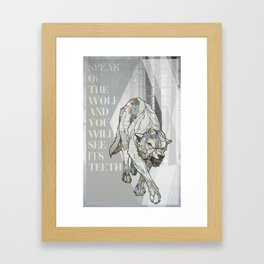 Speak of the Wolf Framed Art Print