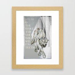 Speak of the Wolf Framed Art Print