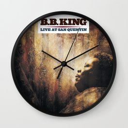 BB King Live At San Quentin CD Cover Wall Clock