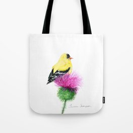 Little Goldfinch by Teresa Thompson Tote Bag