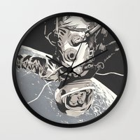 gravity Wall Clocks featuring Gravity by Señor Salme