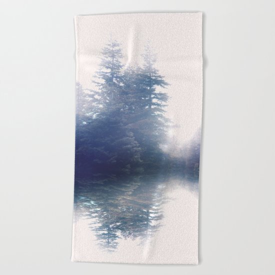 Serene reflections Beach Towel