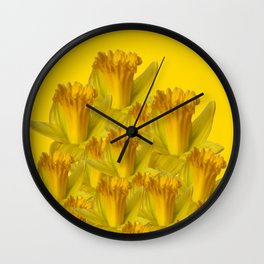 YELLOW SPRING DAFFODILS YELLOW ART Wall Clock