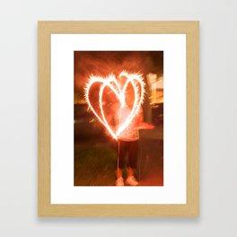 Firework Love Framed Art Print