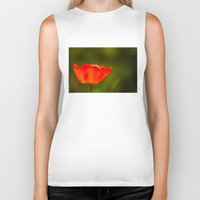 tulip Biker Tanks featuring Tulip by Bruce Stanfield