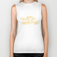 camp Biker Tanks featuring Nature camp by Out There Studio