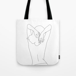 Woman's body line drawing - Cece Tote Bag