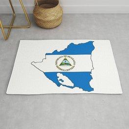 Nicaragua Map with Nicaraguan Flag Rug