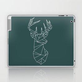 Geometric Stag (White on Slate) Laptop & iPad Skin