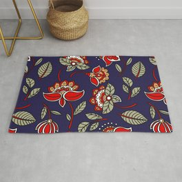 chinese floral Rug