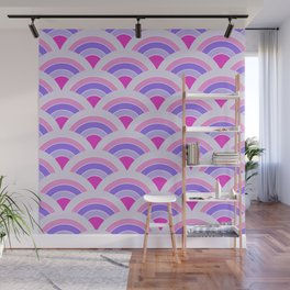 Rainbow connection - violet Wall Mural