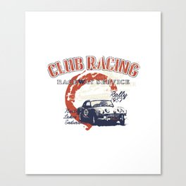 car club racing Canvas Print