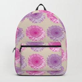 Pink and purple gerbers pattern Backpack