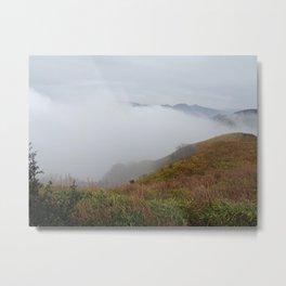 mount aso in the mist Metal Print