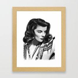 Katharine Hepburn Portrait Framed Art Print