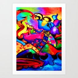 Hero Elephant colorful Art Print