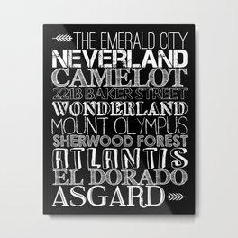 Lands of Imagination Metal Print