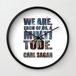 Each of us, a Multitude [White] Wall Clock