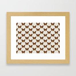 Monarch Butterfly Pattern Framed Art Print