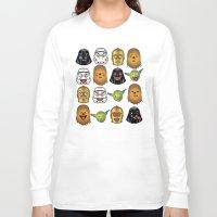 starwars Long Sleeve T-shirts featuring StarWars Emojis by Xray T
