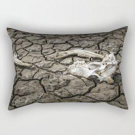 Animal Bones at Mud Cracked Ground Rectangular Pillow