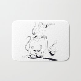 A Scurvy Pirate Crew Bath Mat