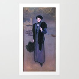 Ramon Casas - Portrait of Dolors Vida Art Print