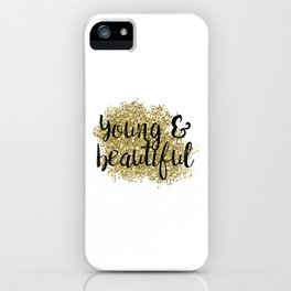 Young & beautiful - golden jazz iPhone Case
