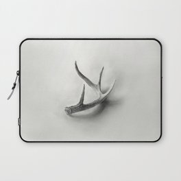 Lost and Found - Deer Antler Pencil Drawing Laptop Sleeve
