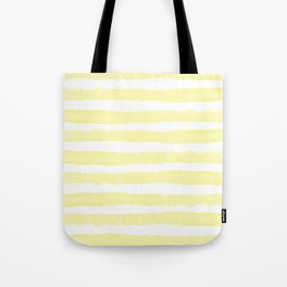 Sunny Yellow Handdrawn horizontal Beach Stripes - Mix and Match with Simplicity of Life  Tote Bag