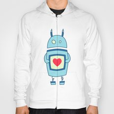 Cute Clumsy Robot With Heart Hoody