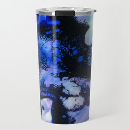 Point of View Abstract Water Blue Purple Art Travel Mug