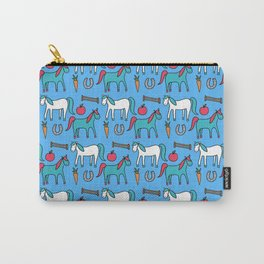 Horses- Blue Palette Carry-All Pouch