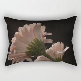 Exotic Pink on Black Gerbera Daisy Petals Rectangular Pillow