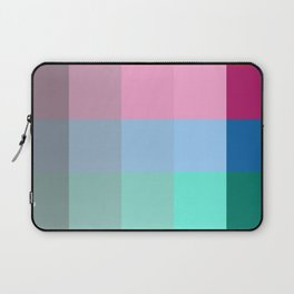 Colorful Pixel Patchwork Laptop Sleeve