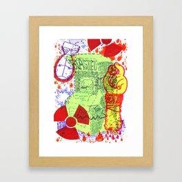 Blasted EXTREME Framed Art Print