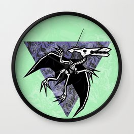 Pterodactyl Fossil Wall Clock