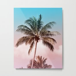 Rainbow Palm Tree II Metal Print