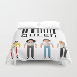 Quee-n Pixel Art Duvet Cover