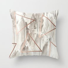 Feathers & Copper #society6 #decor #buyart Throw Pillow