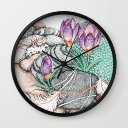 Angel Feathers Wall Clock