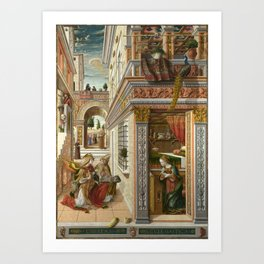 The Annunciation, with Saint Emidius Art Print
