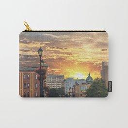 Binghamton Court Street Sunrise Oil Paint Style Carry-All Pouch