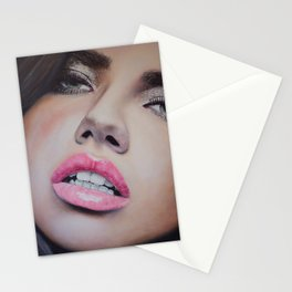 Adriana Lima Oil on Canvas Portrait Stationery Cards