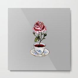 Rose Tea Metal Print