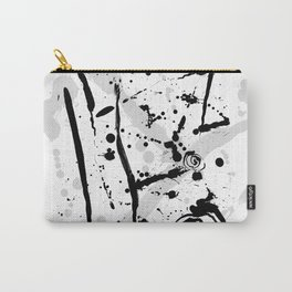 Minimalist Modern Abstract Ink Splatter Carry-All Pouch