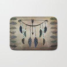 Bow, Arrow, and Feathers Bath Mat